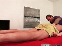 Gavin Waters gets astounding body massaged