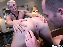 Respectful Marc Dylan participates in ass-licking delighted show with pretty guys