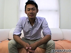Yuta Kawase gets get out of his clothing and reveals how much he loves on every side masturbate