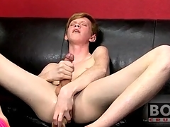 Teen twink redhead fucks big toy buy his ass