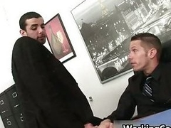 Jake Make fit kissed in office
