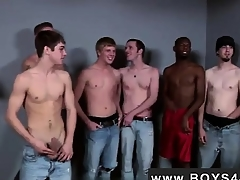Gay video Lucky be advantageous to him he met the Bukkake Boys!