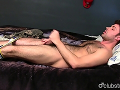 Gorgeous Straight Chap Adam Masturbating