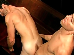 Vintage gay porn with BJ plus doggystyle anal