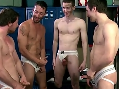 Soccer players suck and weary surrounding jockstraps