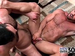 Fine anal sex with three hairy guys