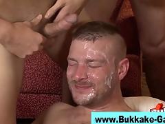 Gay interracial bukkake