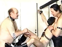 Privately masked slave gets his cock and hogwash agonizing