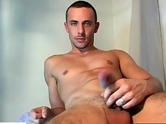 Ache dick guy getting wanked by a gay guy