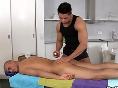 Sensual increased by hawt massage session for pretty twinks