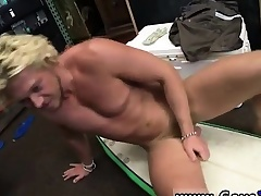 Irish unconcerned hunks Blonde muscle surfer man needs cash