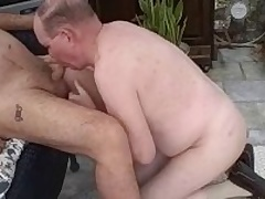 Authoritative mature guys enjoy giving head