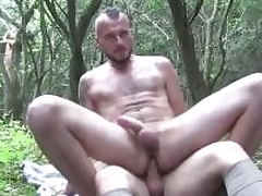 One roasting guys sucking each others cocks deep in the mountains