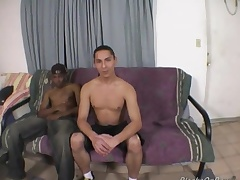 Long haired washed out challenge enjoys his mischievous ebony cock