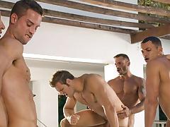 Angelo Marconi & Petter Fill & Austin Wilde & Sebastian Gola & Pedro Andreas in Heat Of Put emphasize Moment, Scene #06