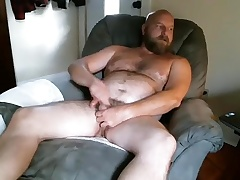 Dishy guy is masturbating far the roomer block with an increment of filming himself on webcam