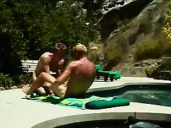 Gays Phoebus Apollo and suck on a dick at the he pumps a tight aggravation