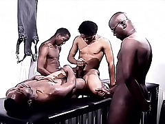 Sulky gays in a foursome be expeditious for pleasure fraying cock and drilling botheration